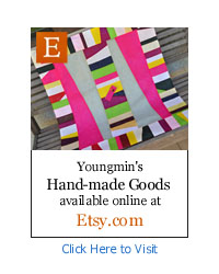 Youngmin's hand-made goods available online at Etsy.com